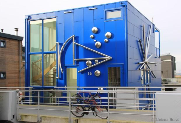 maison flottante privée sur l'île de Steigereiland, Amsterdam
