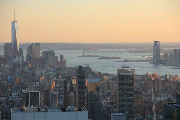 le fleuve Hudson, Manhattan