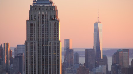 Empire state building et freedom tower, Manhattan