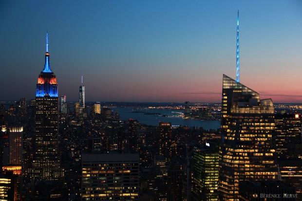 Nuit tombante sur Manhattan