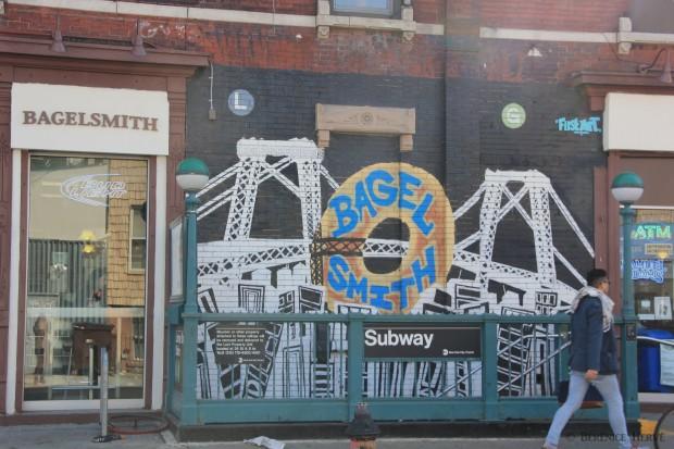 Commerce de bagels à Williamsburg, Brooklyn